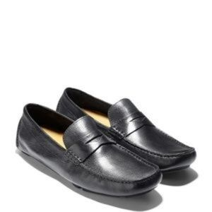 Cole Haan Black Howard Penny Loafers   (KB)